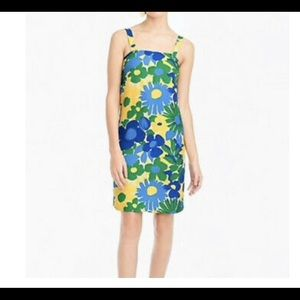 NWT J Crew Retro Floral Dress •size 12•never worn